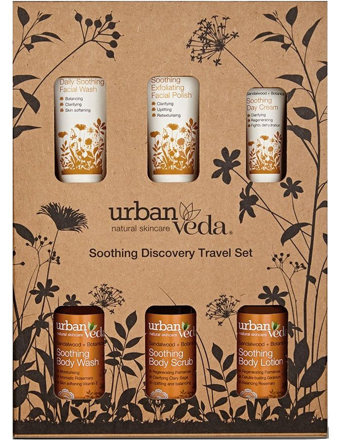 Urban Veda Soothing Discovery Travel Set 6-Delig