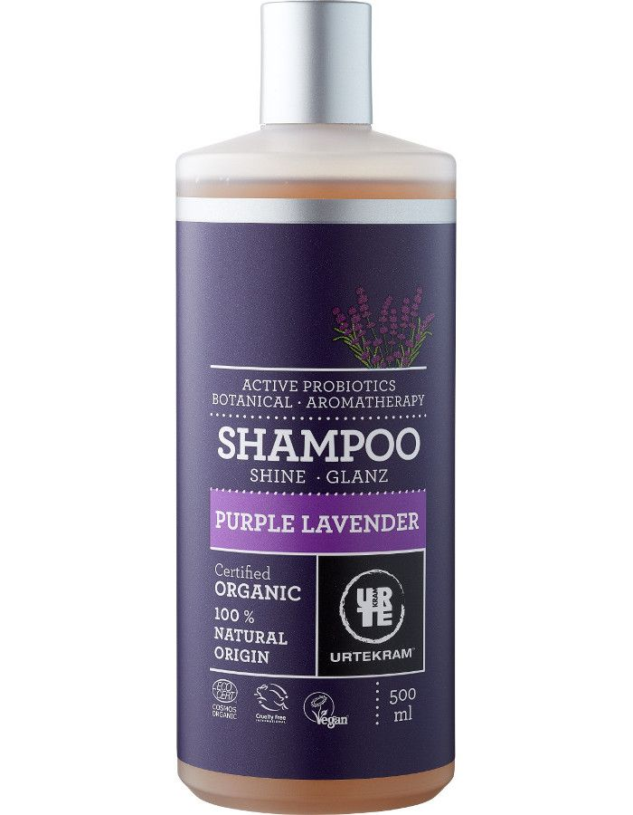 Urtekram Shampoo Purple Lavender Extra Glans Voordeelformaat 500ml