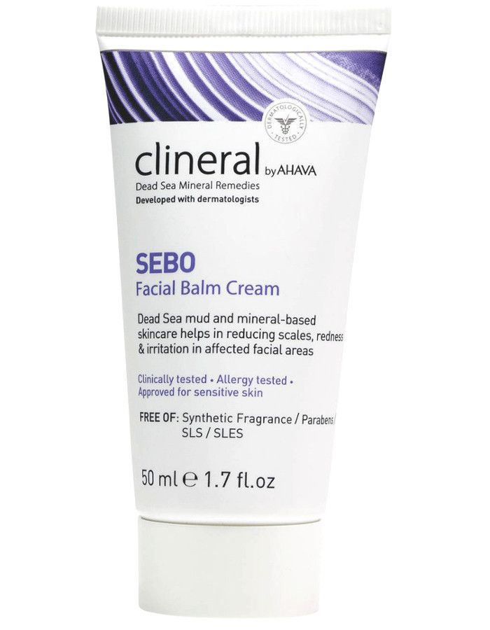 Ahava Clineral Dead Sea Mineral Remedies SEBO Facial Balm Cream 50ml