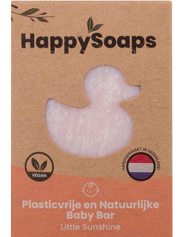 HappySoaps Baby Shampoo en Body Wash Bar Little Sunshine 80gr