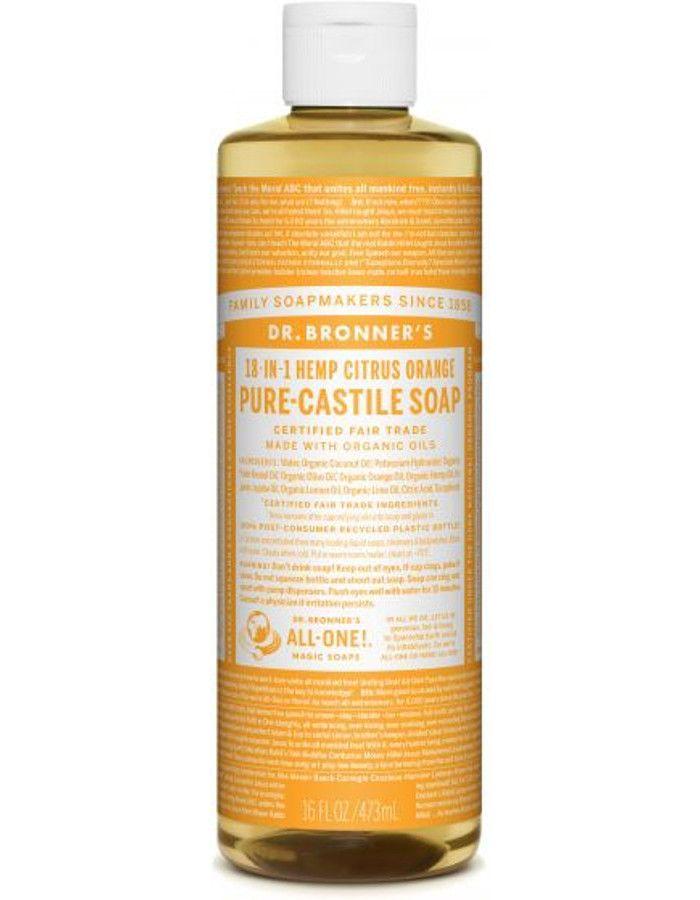 Dr Bronners All In One Liquid Soap Citrus Orange 473ml
