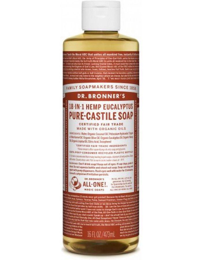Dr Bronners All in One Liquid Soap Eucalyptus 473ml