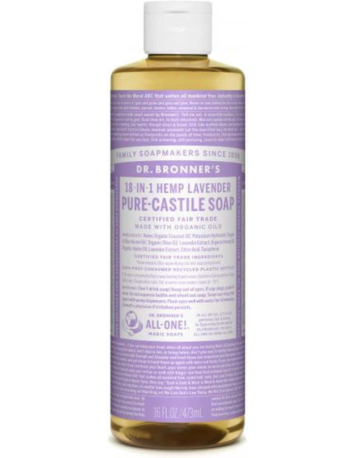 Dr Bronners All In One Liquid Soap Lavender 473ml