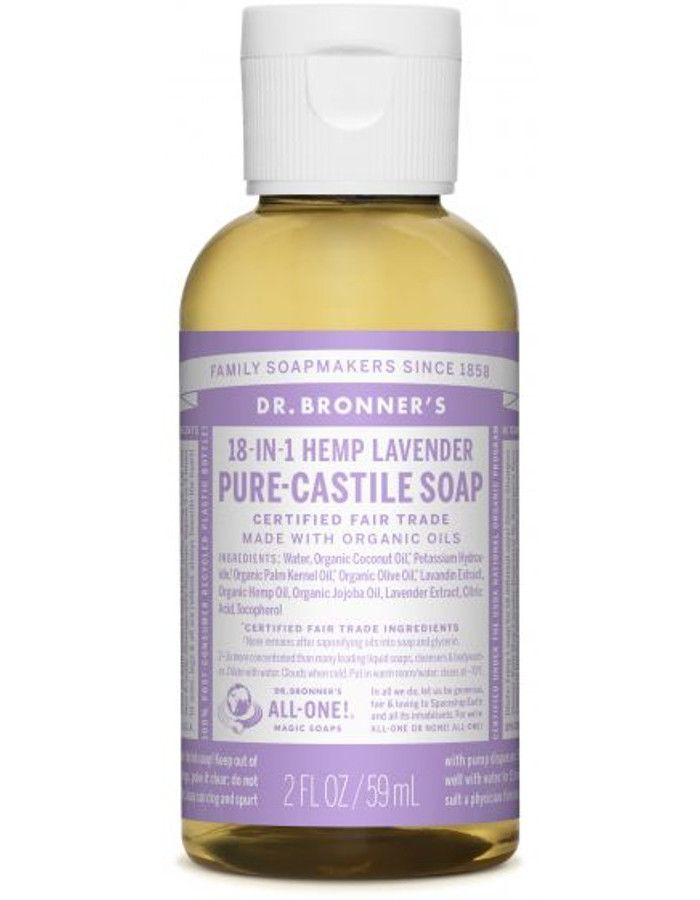 Dr Bronners All In One Liquid Soap Lavender 59ml