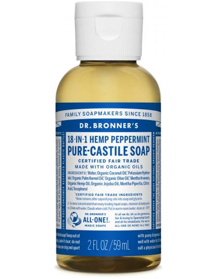 Dr Bronners All In One Liquid Soap Peppermint 59ml