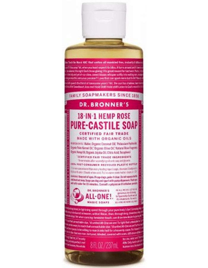 Dr Bronners All In One Liquid Soap Rose 237ml