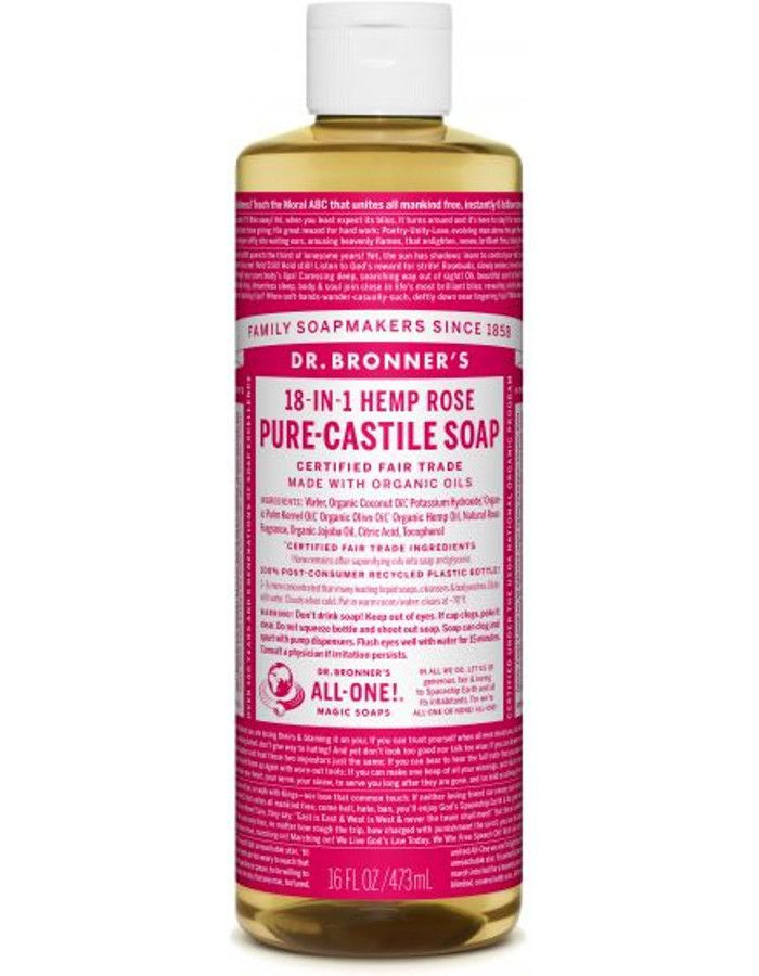 Dr Bronners All In One Liquid Soap Rose 473ml