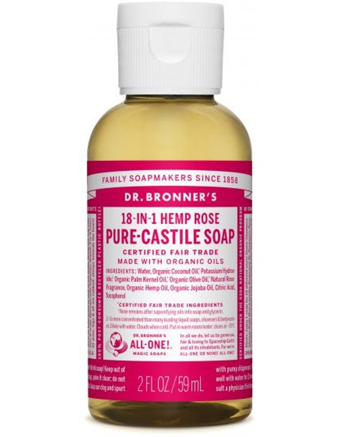 Dr Bronners All In One Liquid Soap Rose 59ml