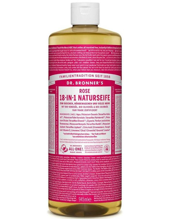 Dr Bronners All In One Liquid Soap Rose 946ml