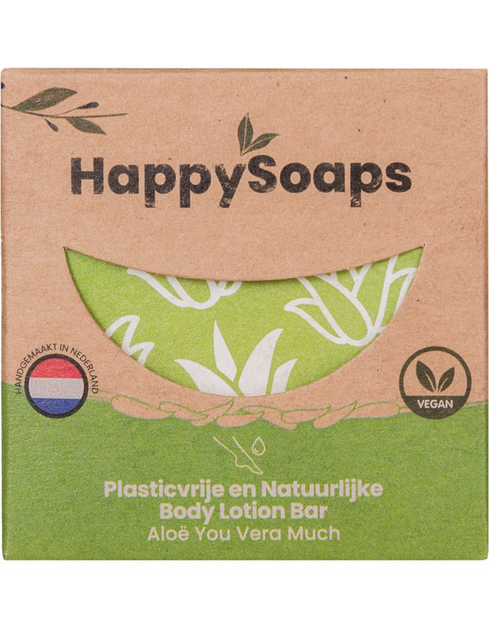 HappySoaps Body Lotion Bar Aloë You Vera Much 65gr