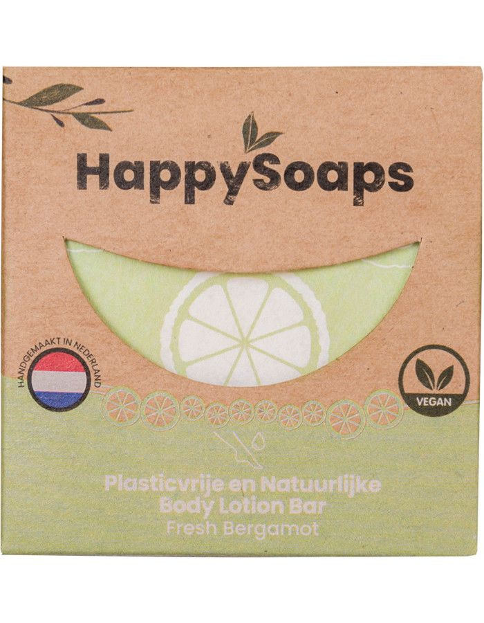 HappySoaps Body Lotion Bar Fresh Bergamot 65gr