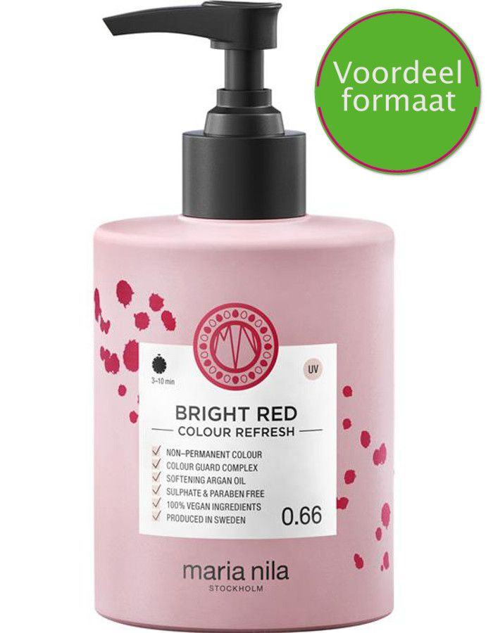 Maria Nila Colour Refresh Haarmasker Bright Red 300ml
