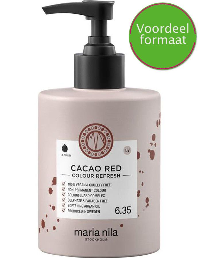 Maria Nila Colour Refresh Haarmasker 6.35 Cacao Red 300ml