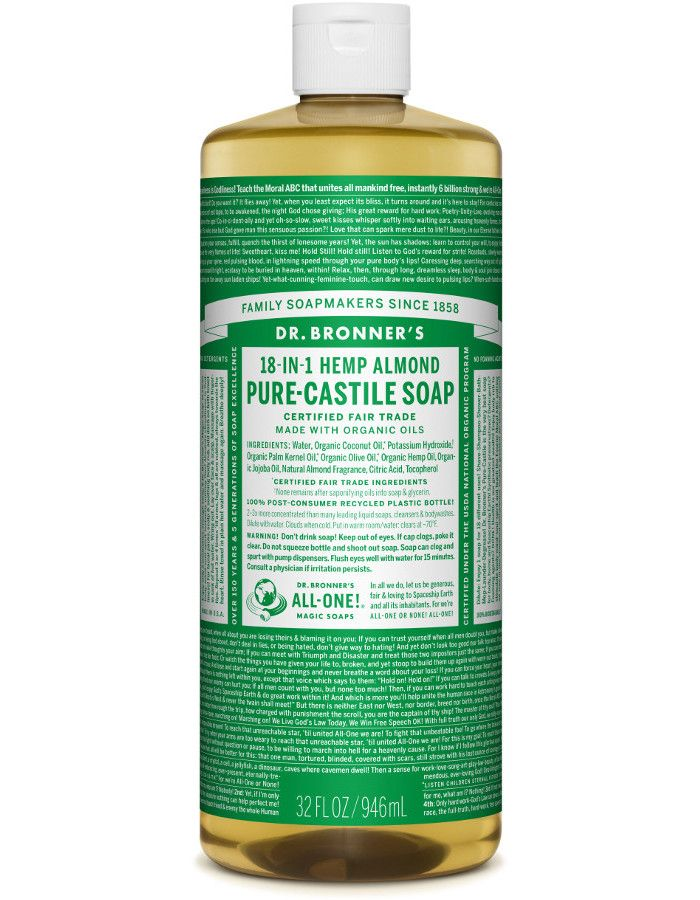 Dr Bronners All in One Liquid Soap Amandel 945ml