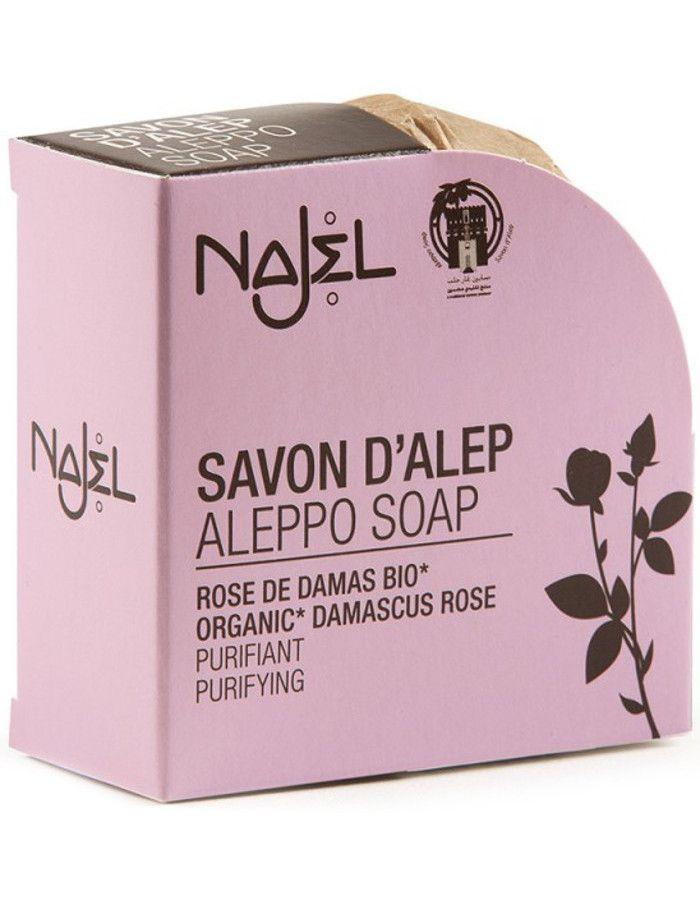 Najel Aleppo Purifying Kruidenzeep Organic Damascus Rose 100gr