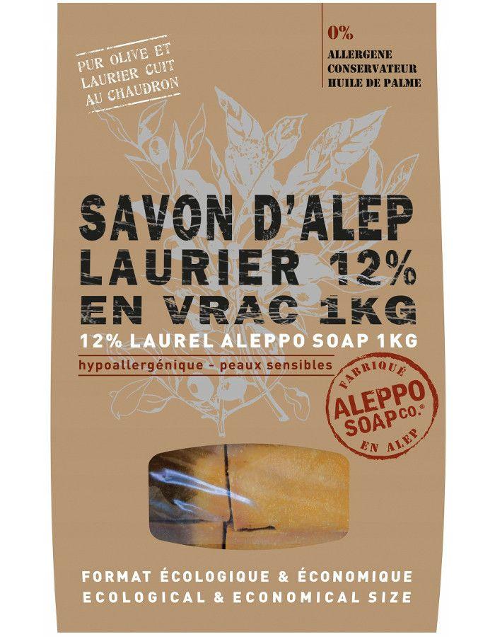 Aleppo Soap Company Aleppo Zeep 12% Laurier Ruwe Stukken 1kg