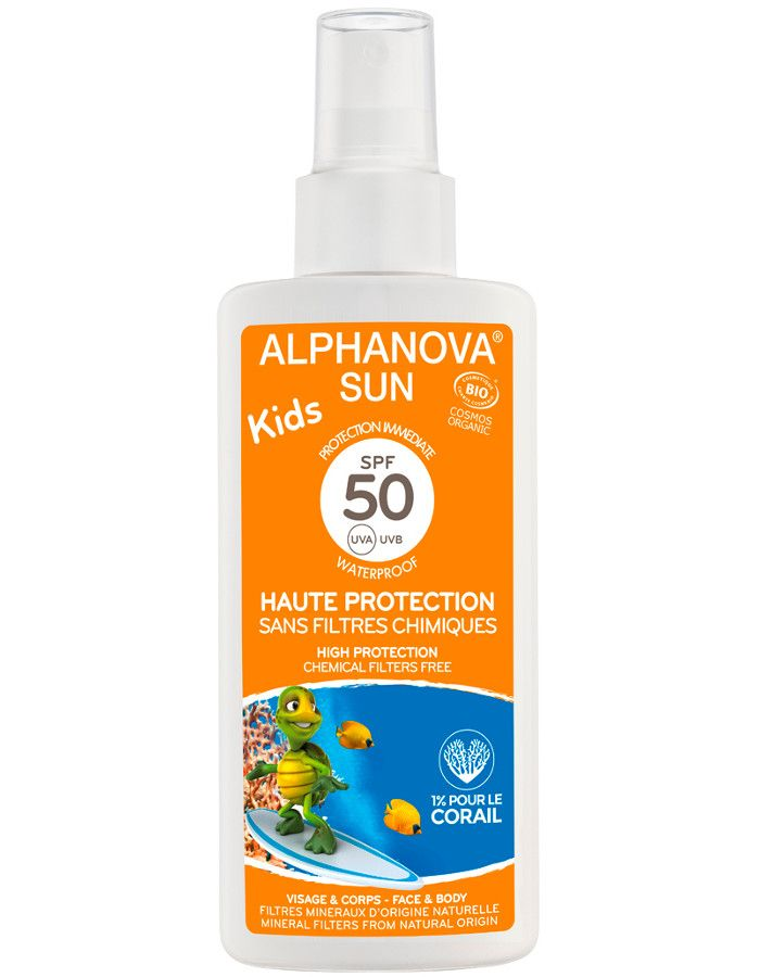 Alphanova Sun Biologische Zonnebrand Spray Kids Spf50 125ml