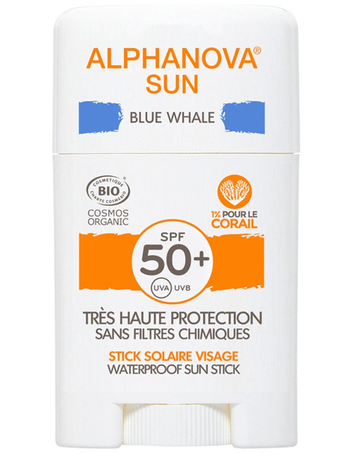 Alphanova Sun Hypoallergene Zonnebrand Stick Spf50 Blue Whale 12ml