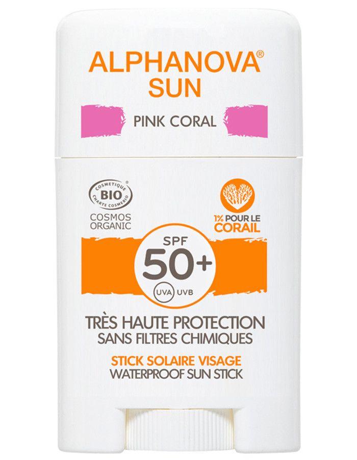 Alphanova Sun Hypoallergene Zonnebrand Stick Spf50 Pink Coral 12ml