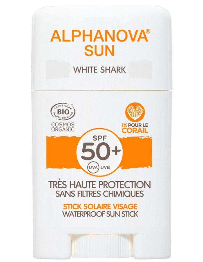 Alphanova Sun Hypoallergene Zonnebrand Stick Spf50 White Shark 12ml