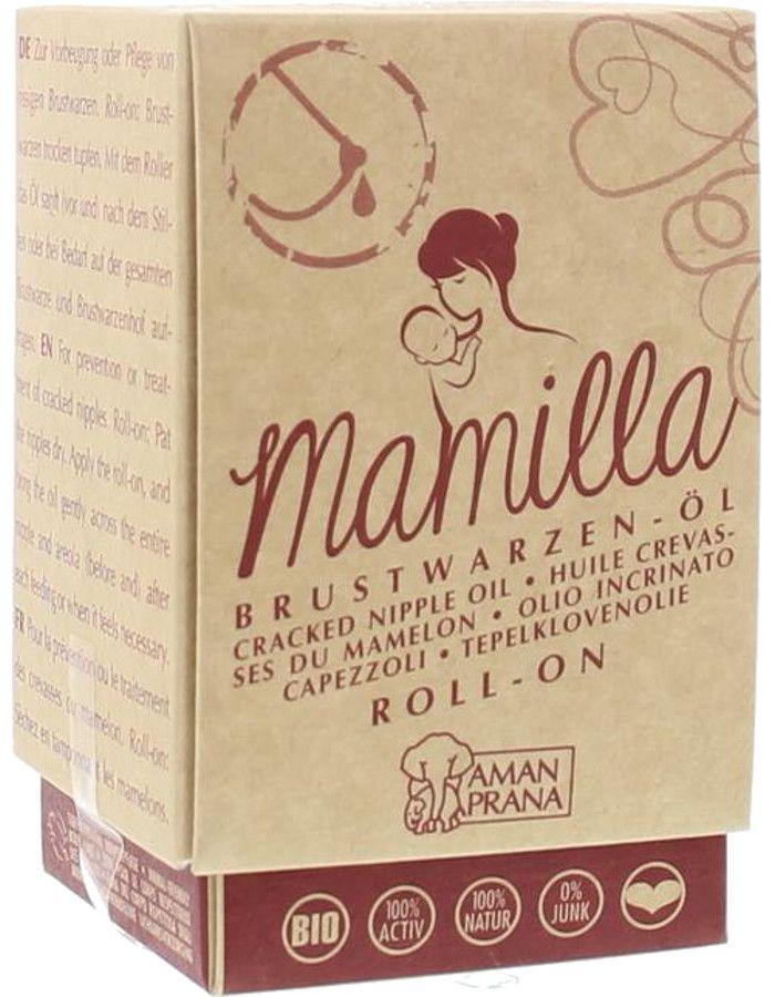 Amanprana Mamilla Organic Tepelklovenolie Roller 10ml
