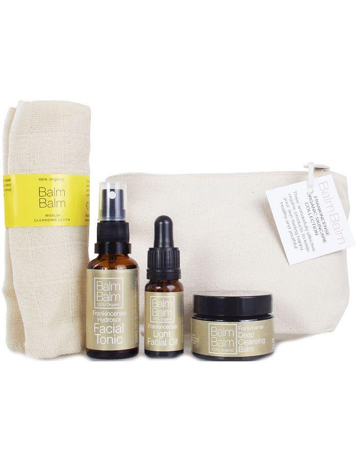 Balm Balm Organic Frankincense Facial Travel Set 5-Delig