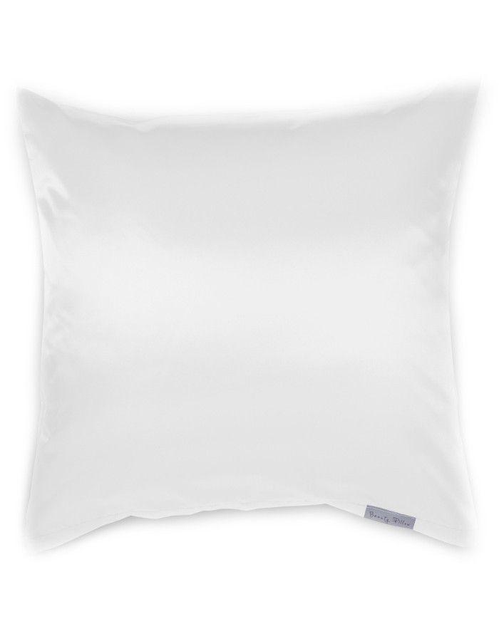 Beauty Pillow Satijnen Kussensloop White 80x80cm