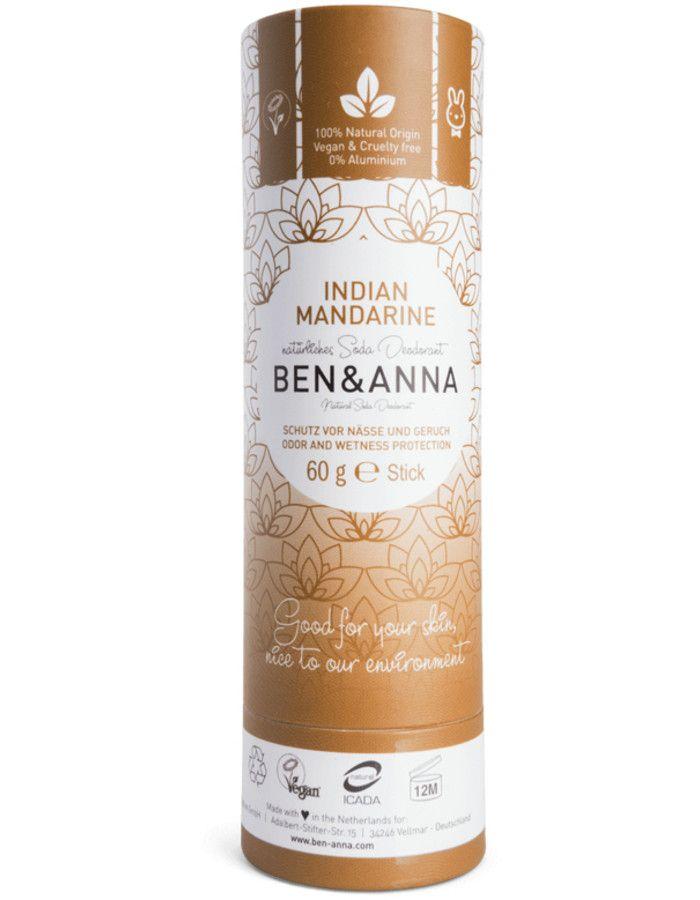 Ben & Anna Natuurlijke Deodorant Stick Indian Mandarine Recyclebare Verpakking