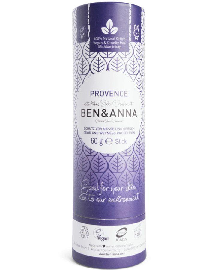 Ben & Anna Natuurlijke Deodorant Stick Provence Recyclebare Verpakking