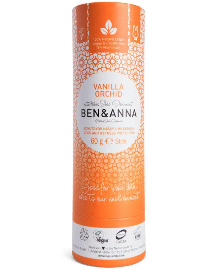 Ben & Anna Natuurlijke Deodorant Stick Vanilla Orchid Recyclebare Verpakking