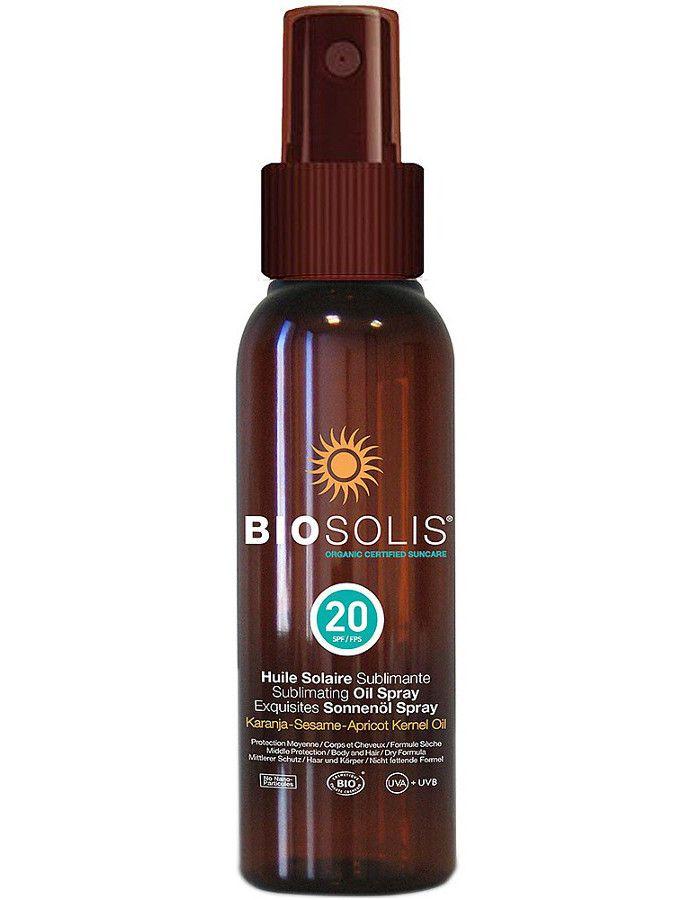 Biosolis Zonnebrand Olie Spray Huid en Haar Spf20 100ml