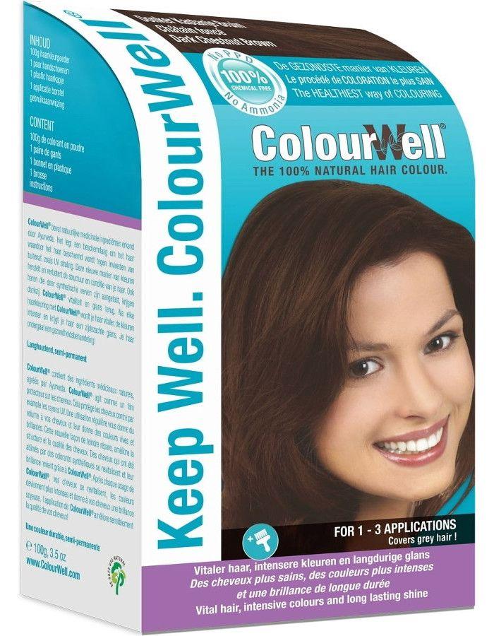 Colourwell 100% Natuurlijke Haarkleuring Donker Kastanje Bruin