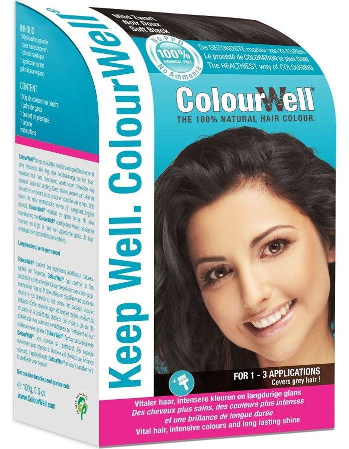 Colourwell 100% Natuurlijke Haarkleuring Mild Zwart