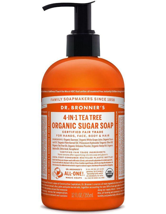 Dr Bronners 4 in 1 Organic Sugar Soap Tea Tree 355ml