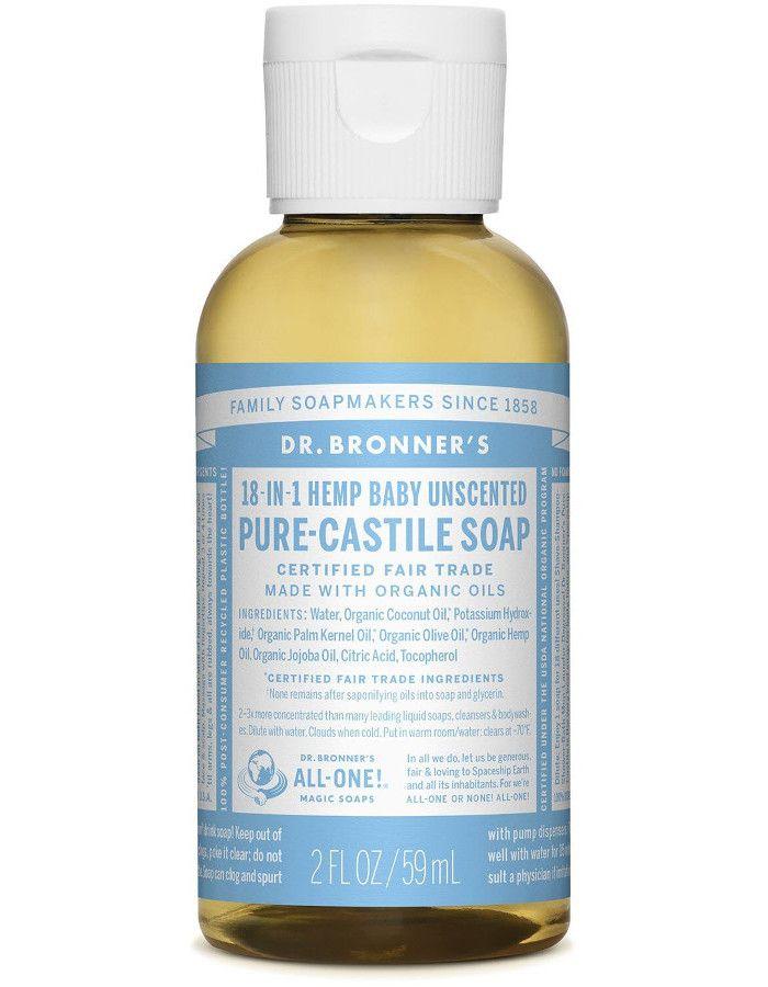 Dr Bronners All In One Liquid Soap Baby Mild Ongeparfumeerd 59ml