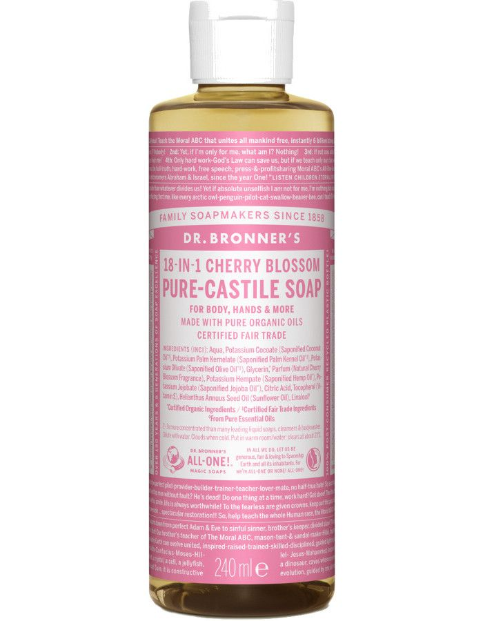 Dr Bronners All In One Liquid Soap Cherry Blossom 240ml
