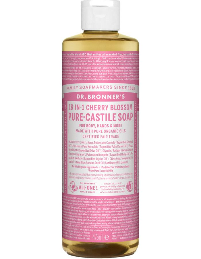 Dr Bronners All In One Liquid Soap Cherry Blossom 475ml