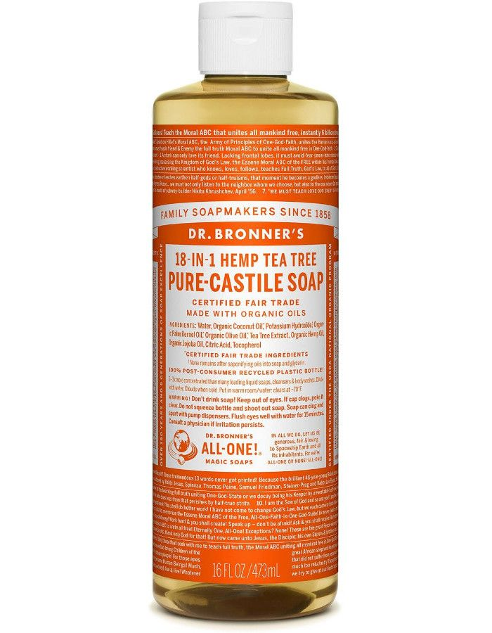 Dr Bronners All In One Liquid Soap Tea Tree 473ml