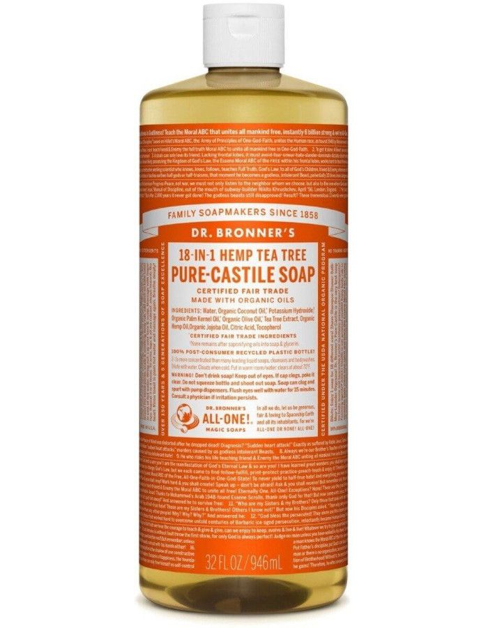 Dr Bronners All In One Liquid Soap Tea Tree 946ml
