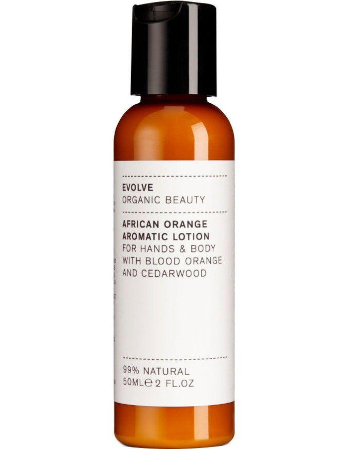 Evolve Organic Beauty African Orange Aromatic Hand & Body Lotion Travel Size 50ml