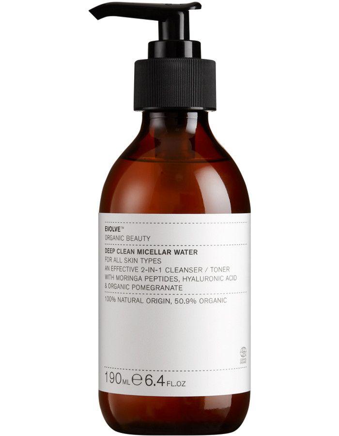 Evolve Organic Beauty Deep Clean Micellar Water 190ml 5060200047743 snel, veilig en gemakkelijk online kopen bij Beauty4skin.nl
