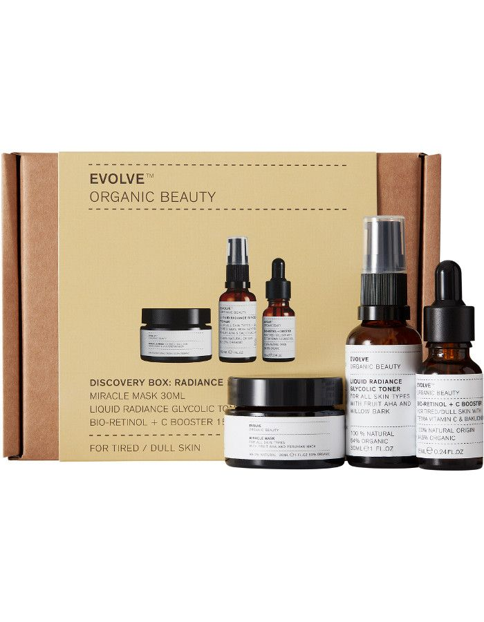 Evolve Organic Beauty Discovery Box Radiance 3-Delig
