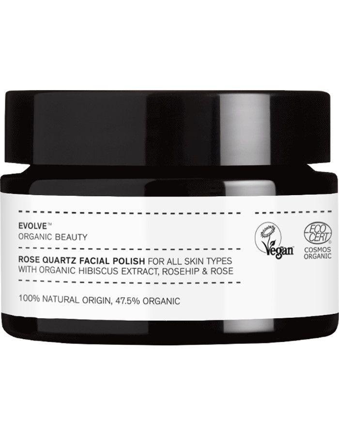 Evolve Organic Beauty Rose Quartz Facial Polish Travel Size 30ml 5060200046265t snel, veilig en gemakkelijk online kopen bij Beauty4skin.nl