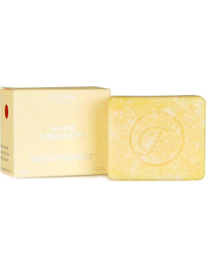 Flow Cosmetics Good Vibrations Aromatherapy Soap Orange & Ginger 120gr