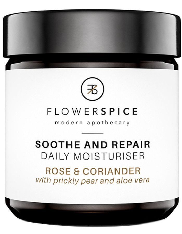 Flower and Spice Soothe And Repair Daily Moisturiser Rose & Coriander 60ml 8719326462097 snel, veilig en gemakkelijk online kopen bij Beauty4skin.nl