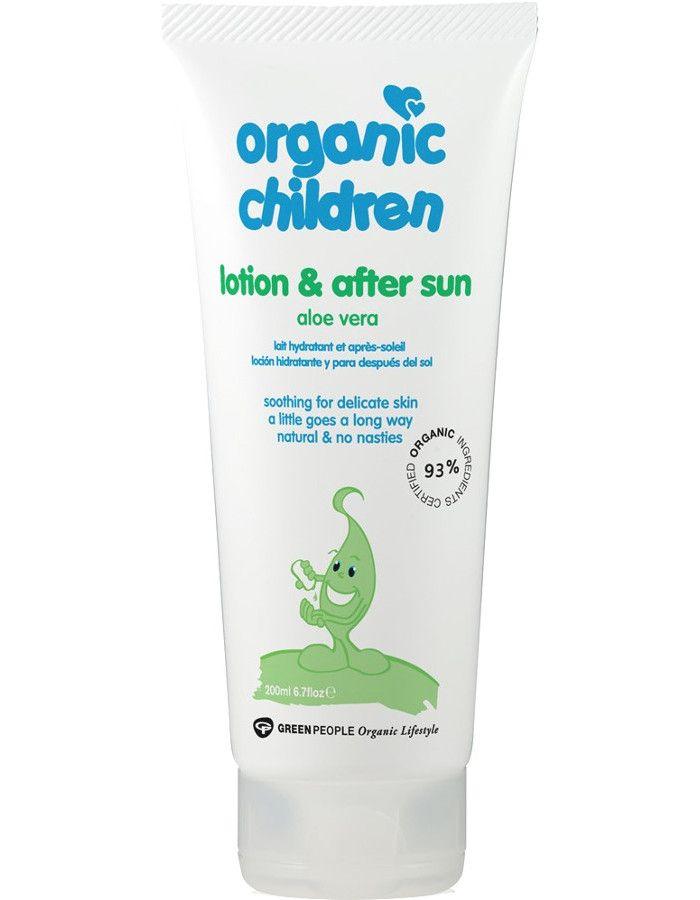 Green People Organic Children Lotion & After Sun Aloe Vera 200ml 5034511005044 snel, veilig en gemakkelijk online kopen bij Beauty4skin.nl