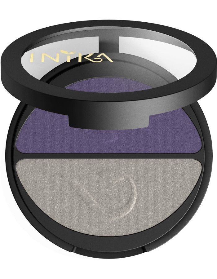 Inika Organic Pressed Mineral Eye Shadow Duo Purple Platinum