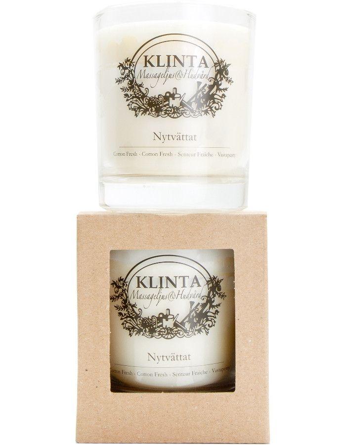 Klinta 100% Natuurlijke Massagekaars 45 Branduren Cotton Fresh 7340141000549 snel, veilig en goedkoop online kopen bij Beauty4skin.nl