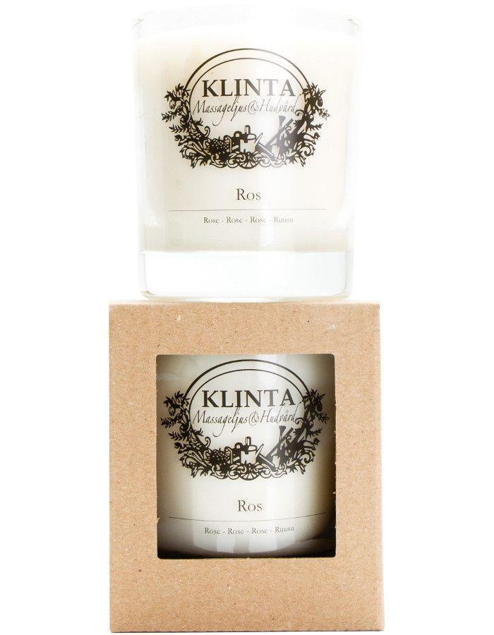 Klinta 100% Natuurlijke Massagekaars 45 Branduren Rose 7340141002161 snel, veilig en goedkoop online kopen bij Beauty4skin.nl