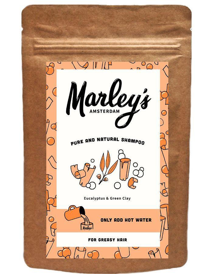 Marley's Amsterdam Shampoo Flakes Greasy Hair Eucalyptus & Green Clay 50ml